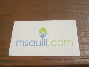 new business cards- back